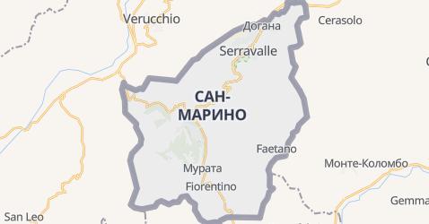 Сан-Маріно - мапа