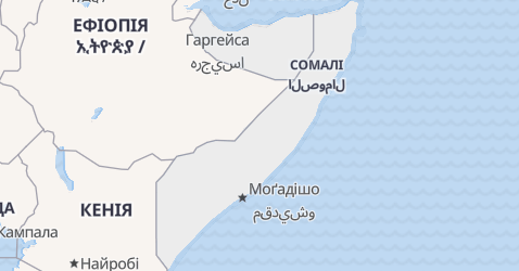 Сомалі - мапа