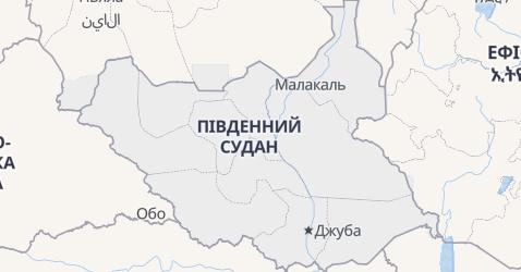 Південний Судан - мапа