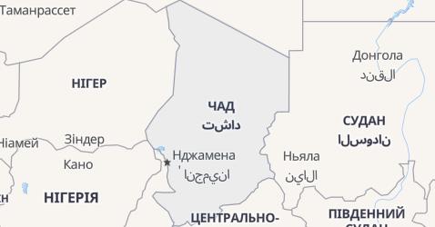 Чад - мапа