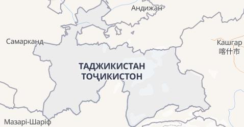 Таджикістан - мапа
