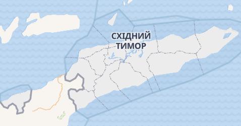 Східний Тімор - мапа