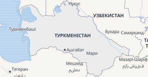 Туркменістан - мапа