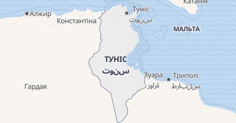 Туніс - мапа