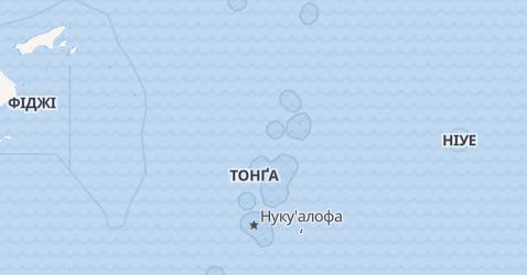Тонга - мапа