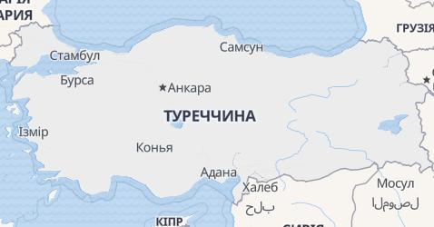 Туреччина - мапа