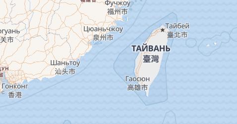 Тайвань - мапа