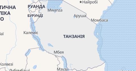 Танзанія - мапа