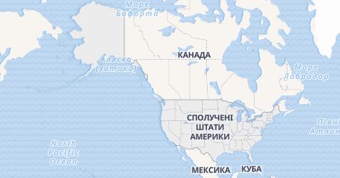 США - Сполучені Штати Америки - мапа