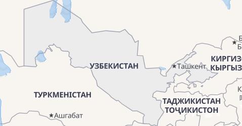Узбекістан - мапа