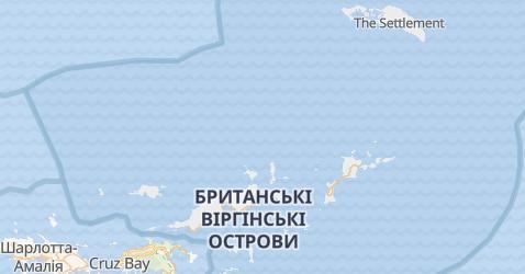 Британскі Віргінскі острови - мапа
