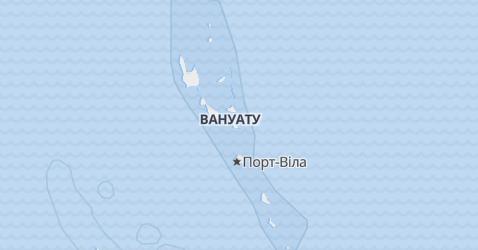 Вануату - мапа