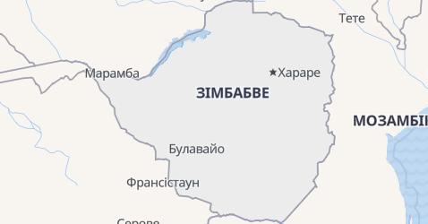 Зімбабве - мапа