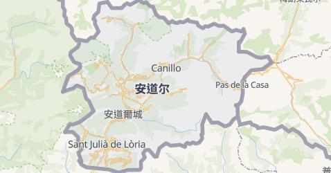安道尔地图