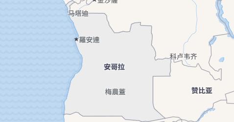 安哥拉地图