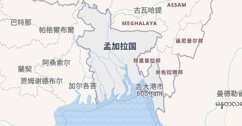 孟加拉地图