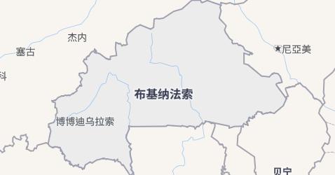 布基纳法索地图