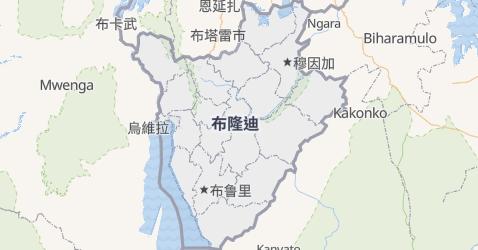 布隆迪地图