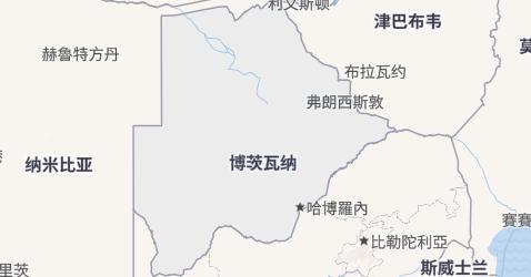 博茨瓦纳地图