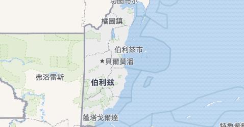伯利兹地图