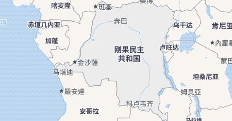 刚果民主共和国地图