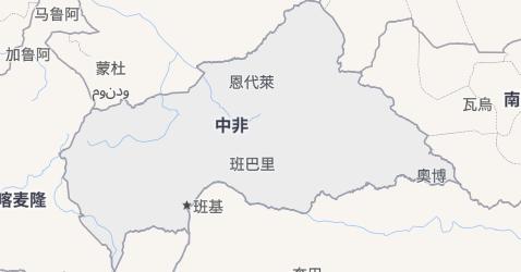 中非共和国地图