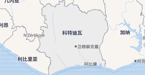 科特迪瓦地图