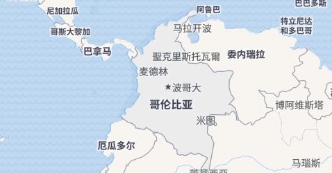 哥伦比亚地图