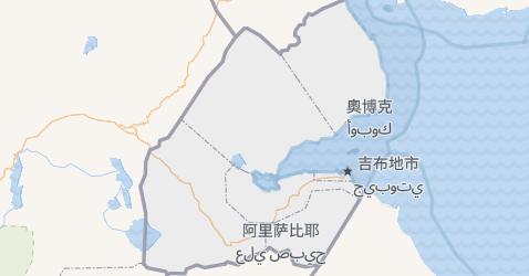 吉布提地图
