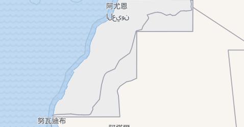 西撒哈拉地图