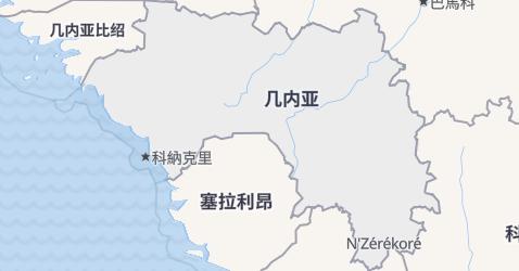 几内亚地图