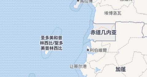 赤道几内亚地图