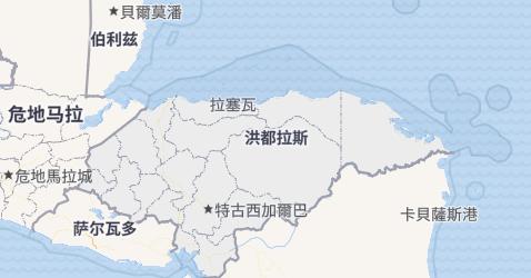 洪都拉斯地图