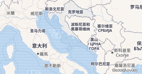 克罗地亚地图