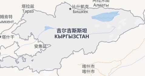 吉尔吉斯斯坦地图