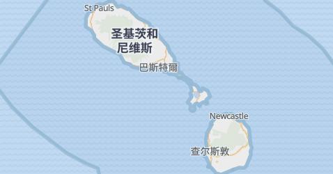 圣基茨和尼维斯地图