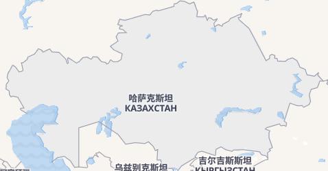 哈薩克共和國地图