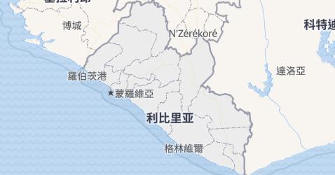 利比里亚地图