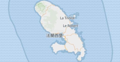 马提尼克地图