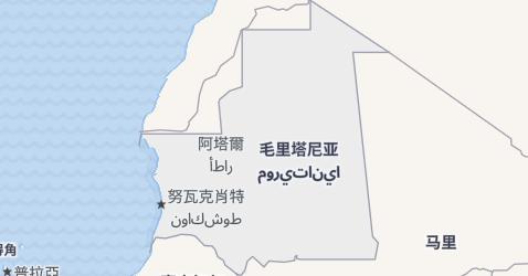 毛里塔尼亚地图