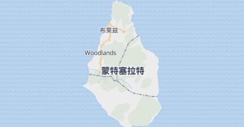 蒙塞拉特地图