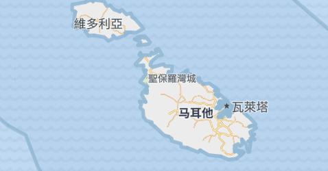 马耳他地图