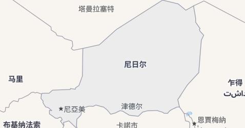 尼日尔地图