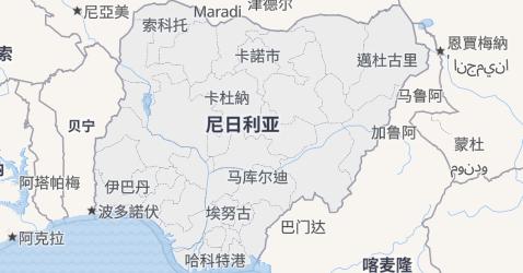 尼日利亚地图