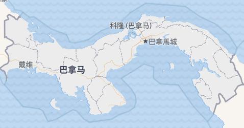 巴拿马地图