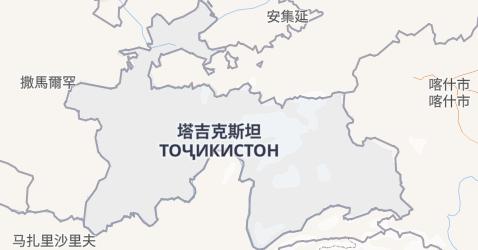 塔吉克斯坦地图