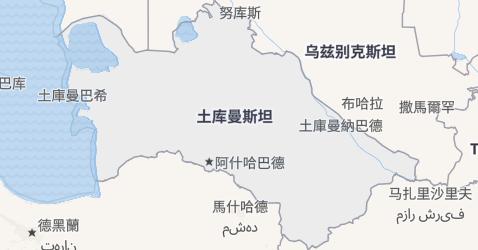 土库曼斯坦地图