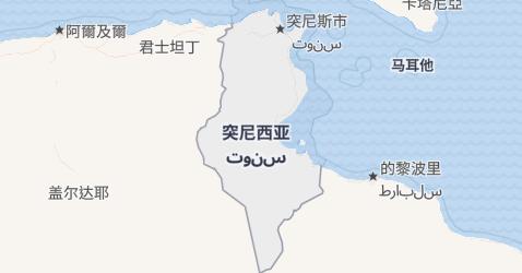 突尼斯地图
