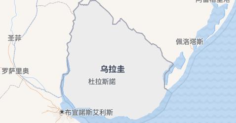 乌拉圭地图