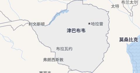 津巴布韦地图